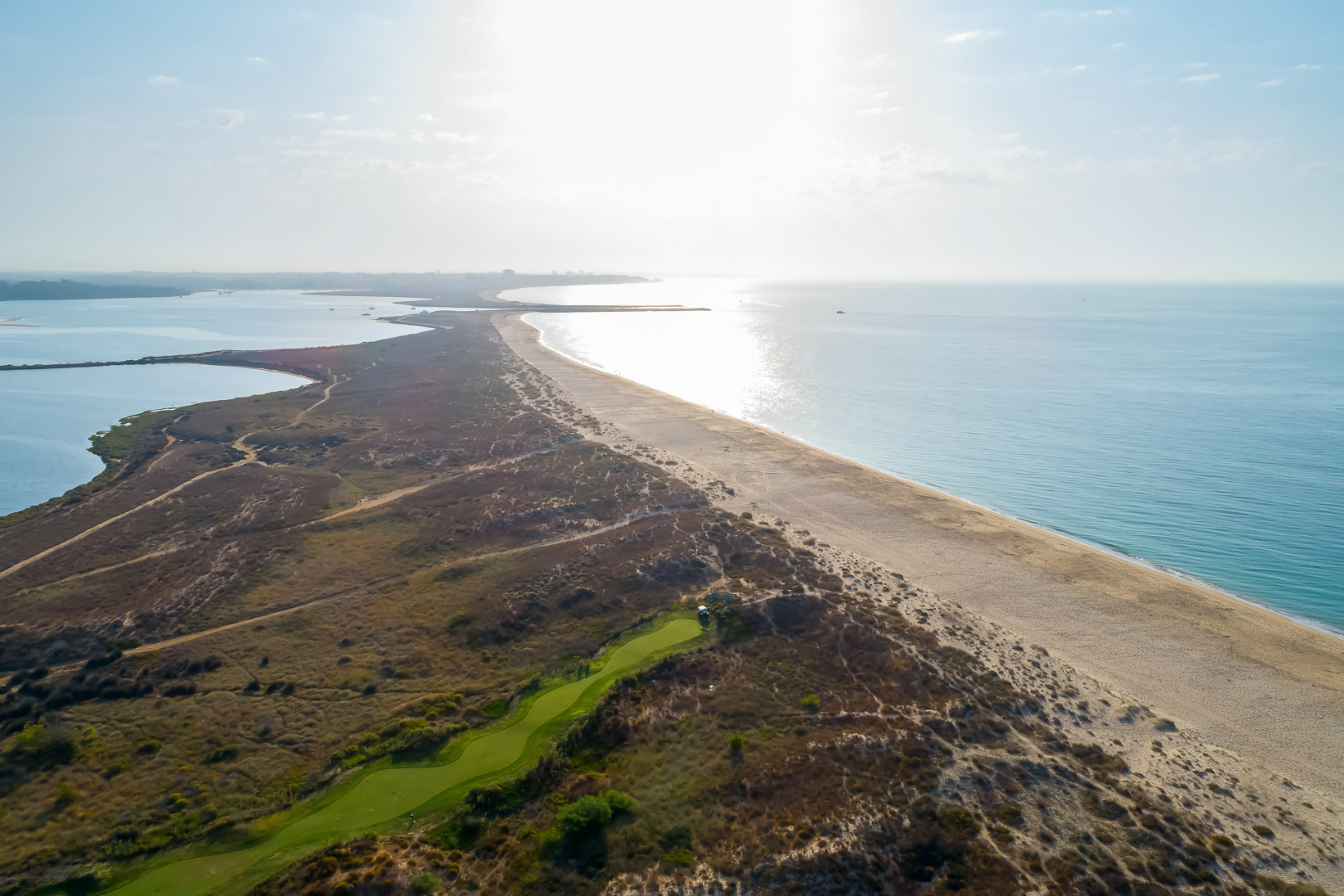 Golf hole near the beach