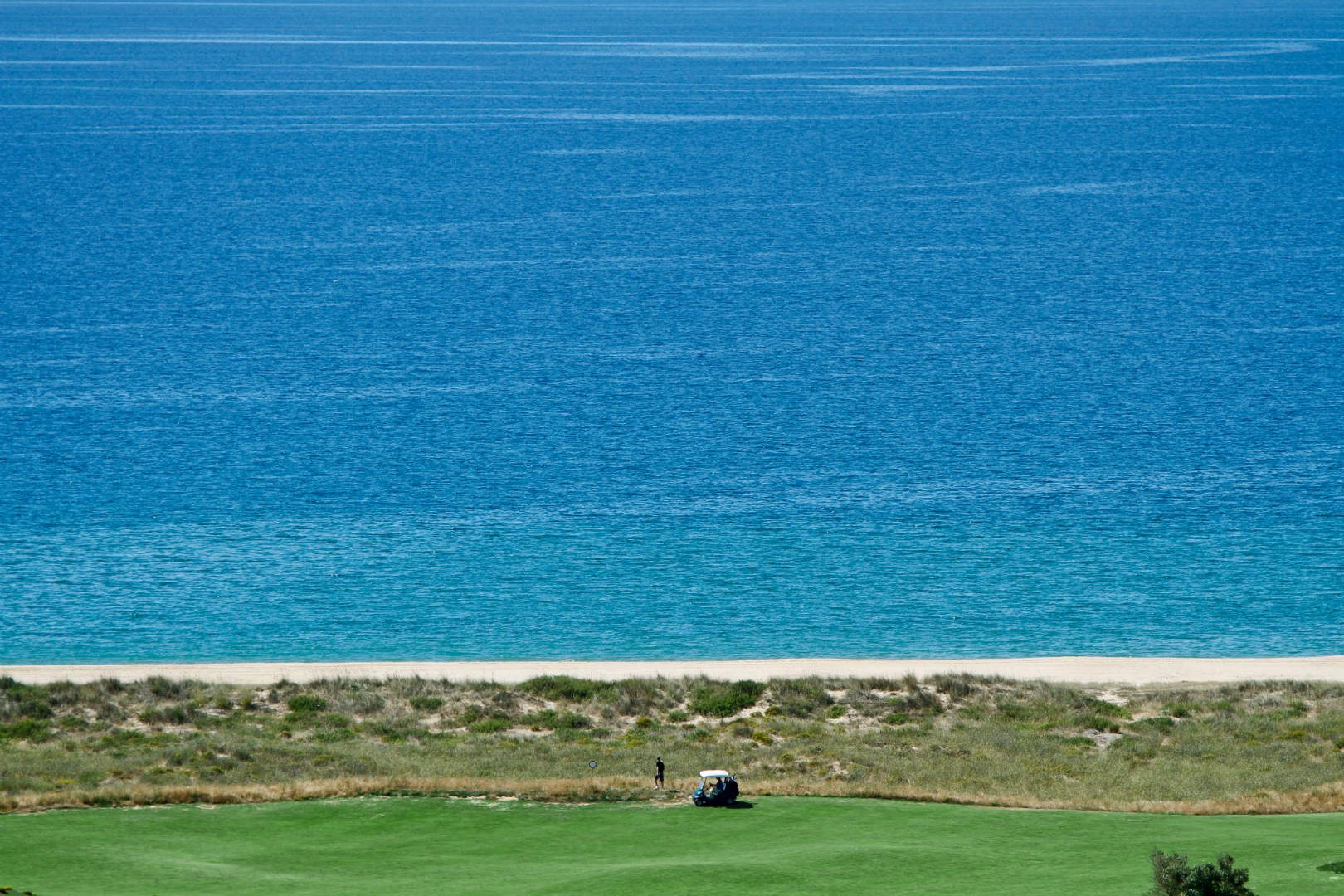 Beach near golf course at Palmares Resort