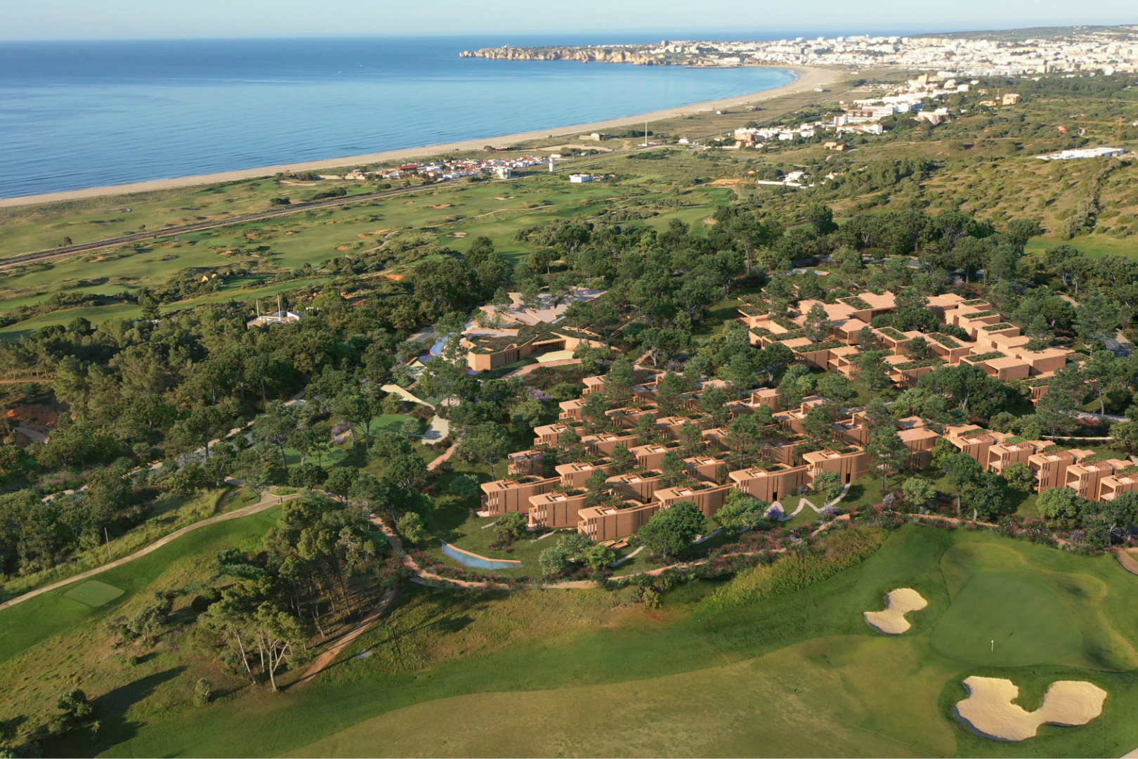 Aerial view of Palmares apartments
