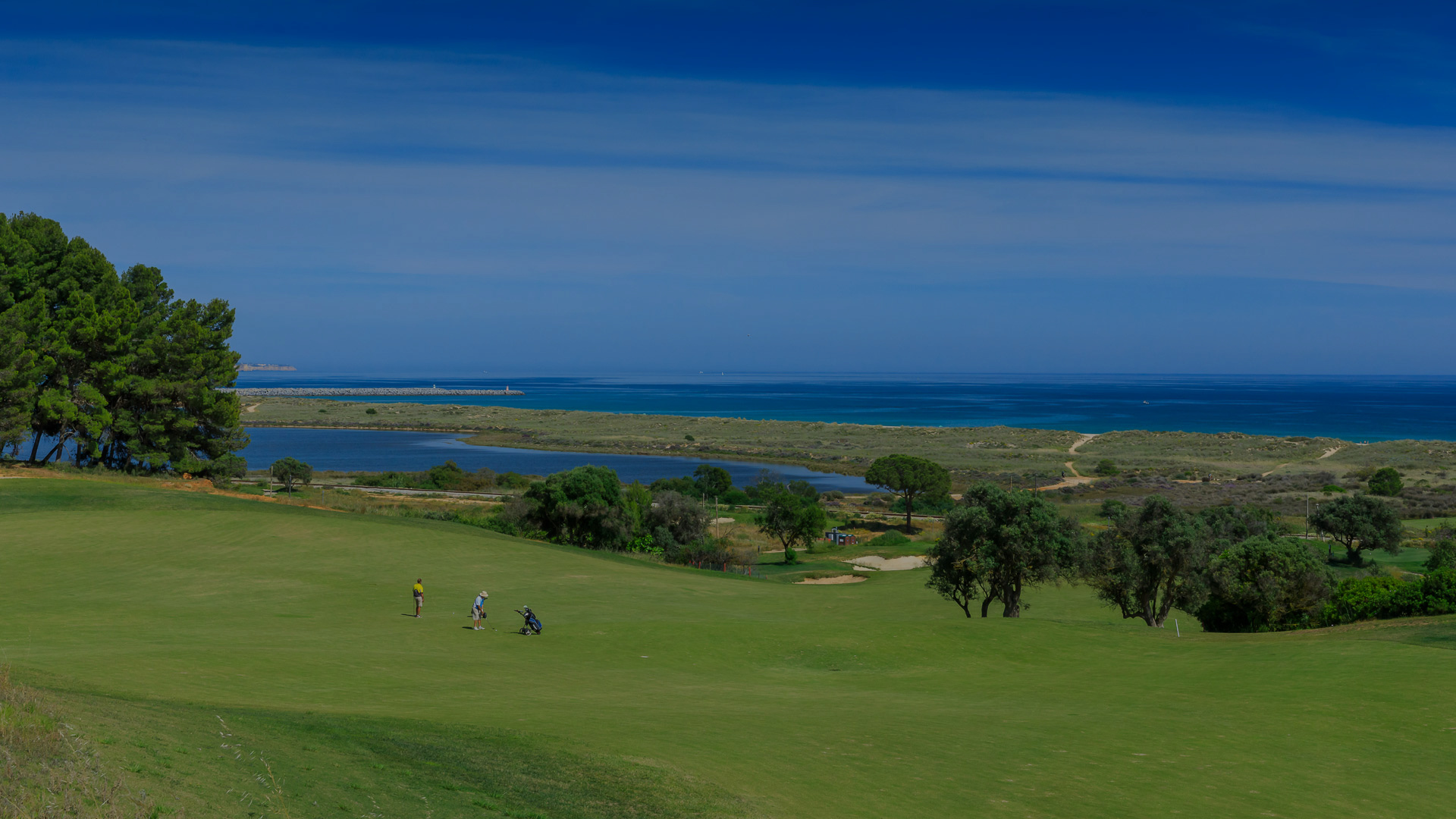 Golf players on Palmares Course