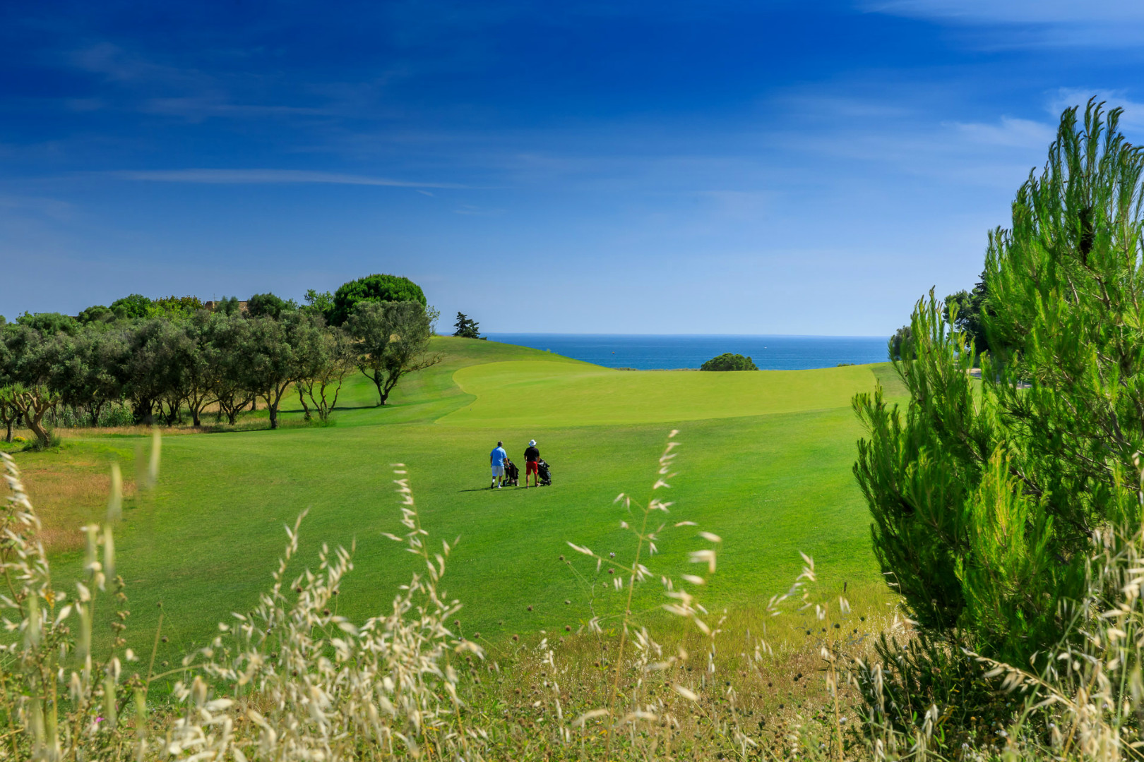 Two players on the Palmares Golf course