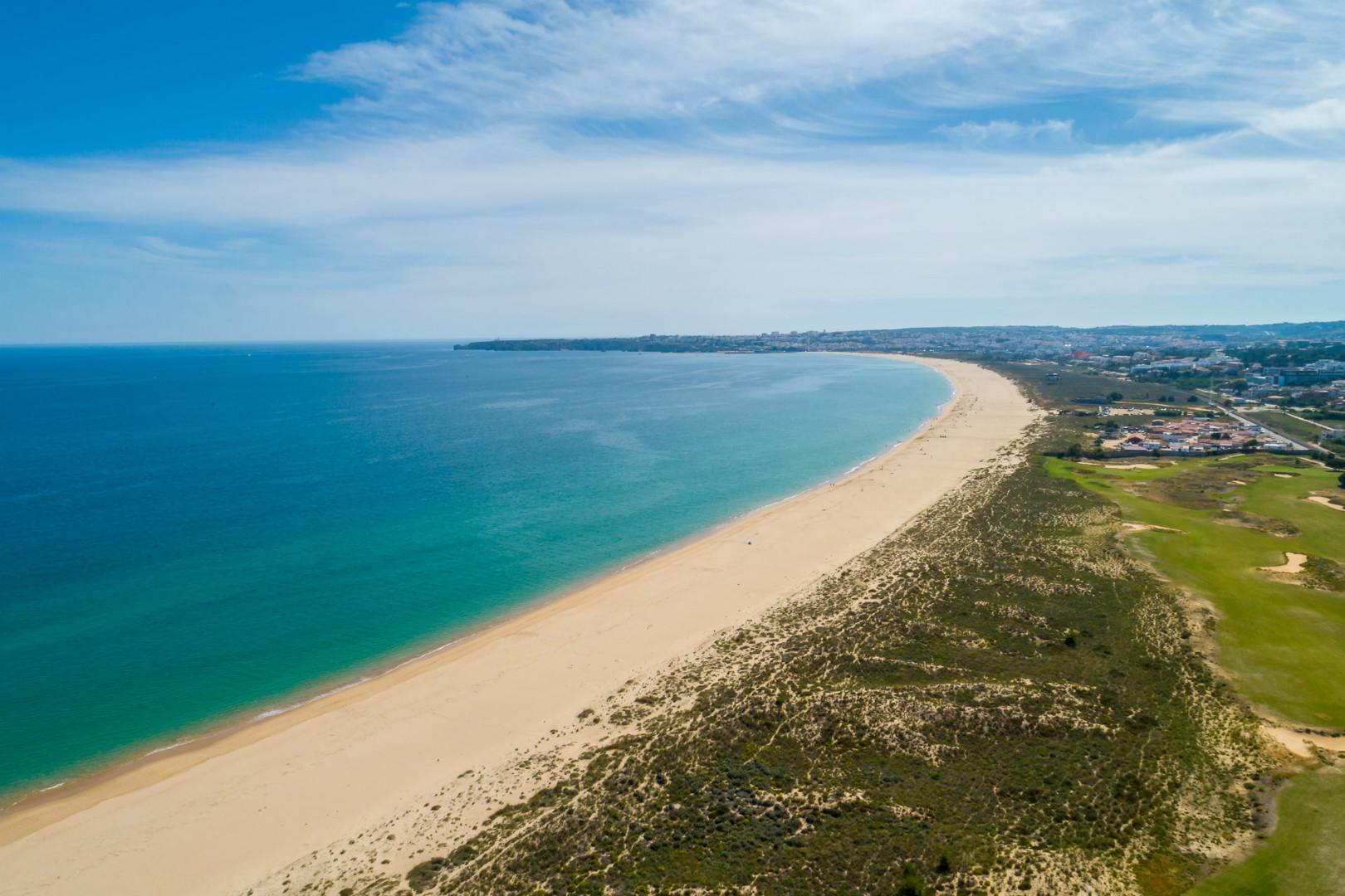 Aerial view from a beach near Palmares